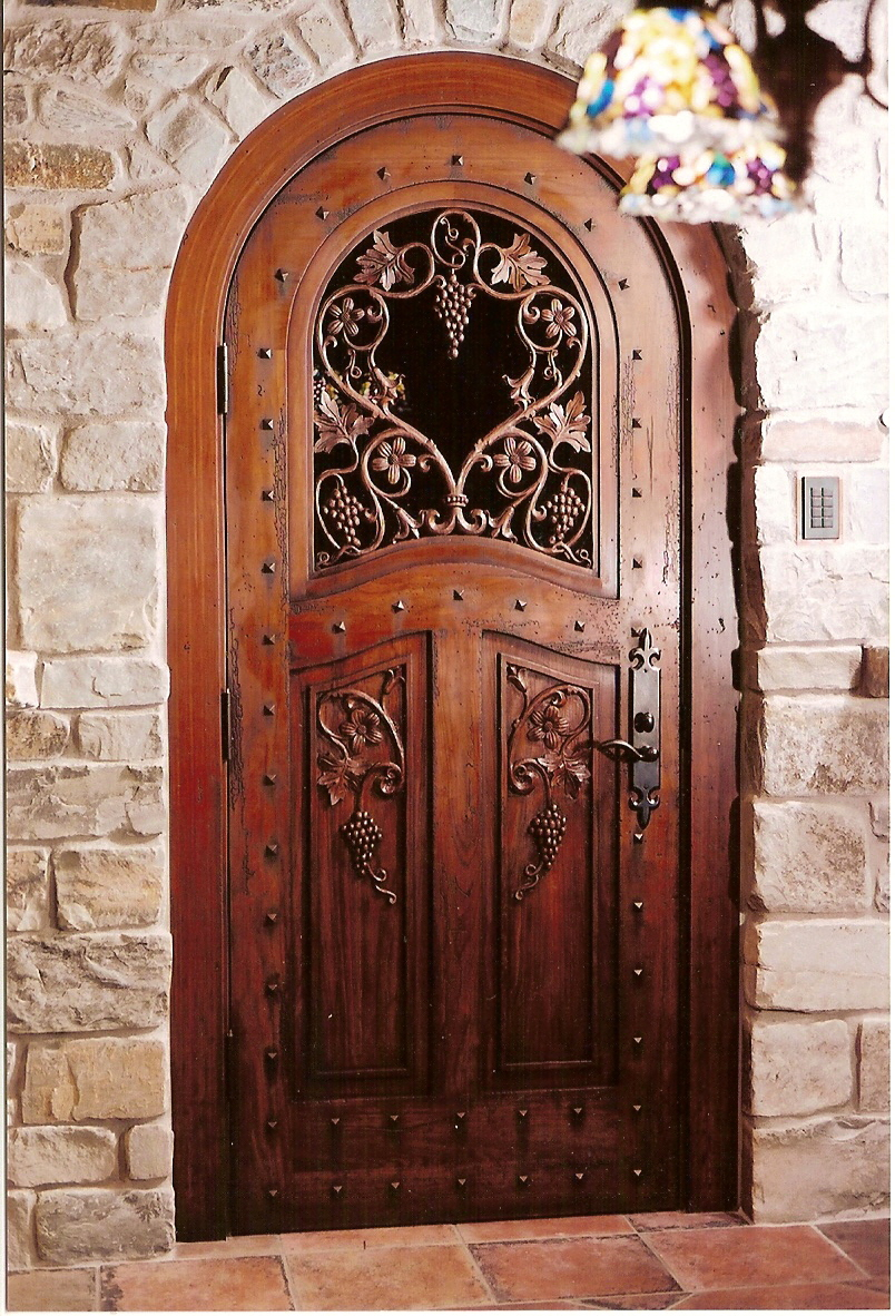 French Country carved wood dooor