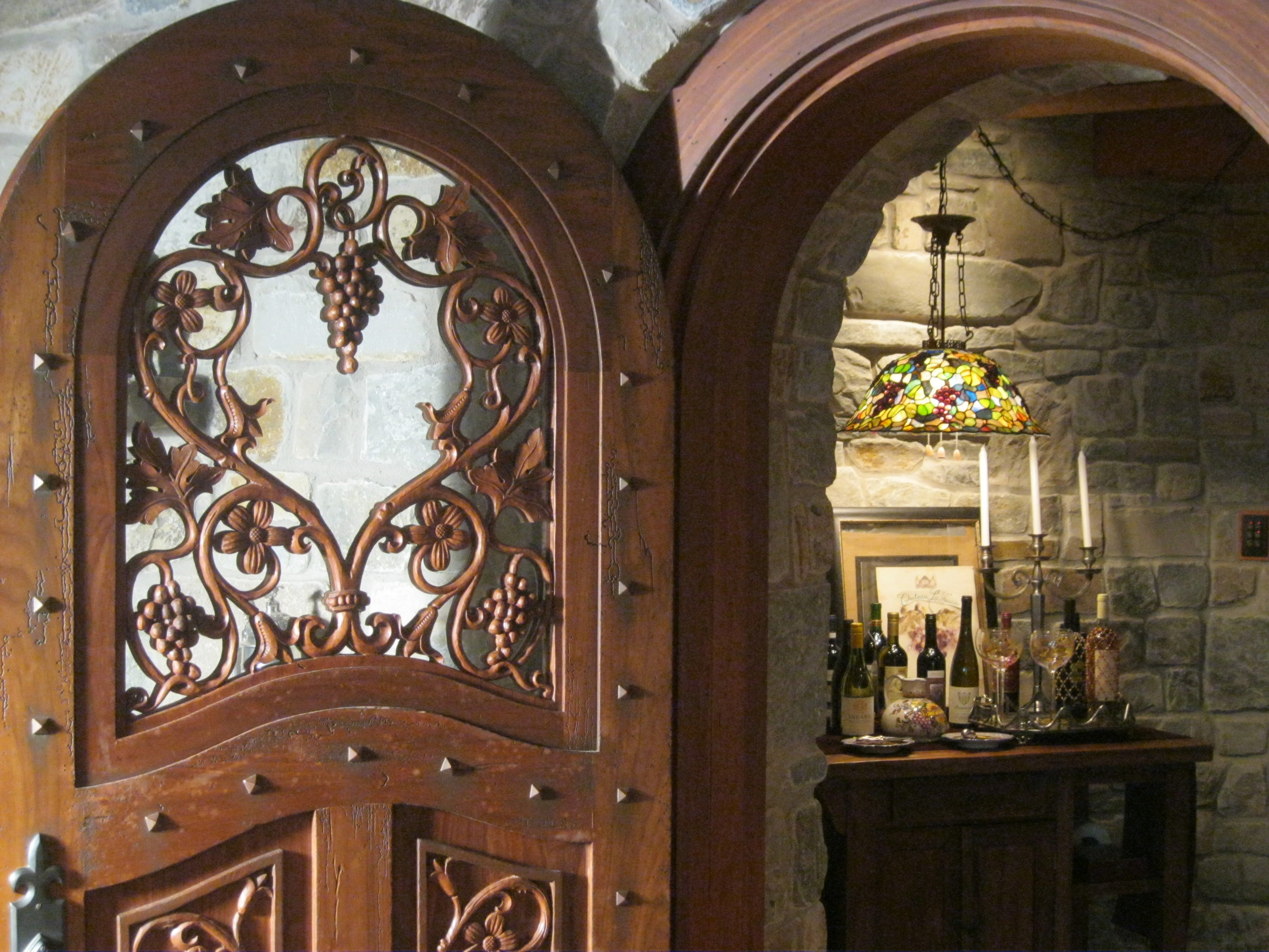 French Country wine cellar door