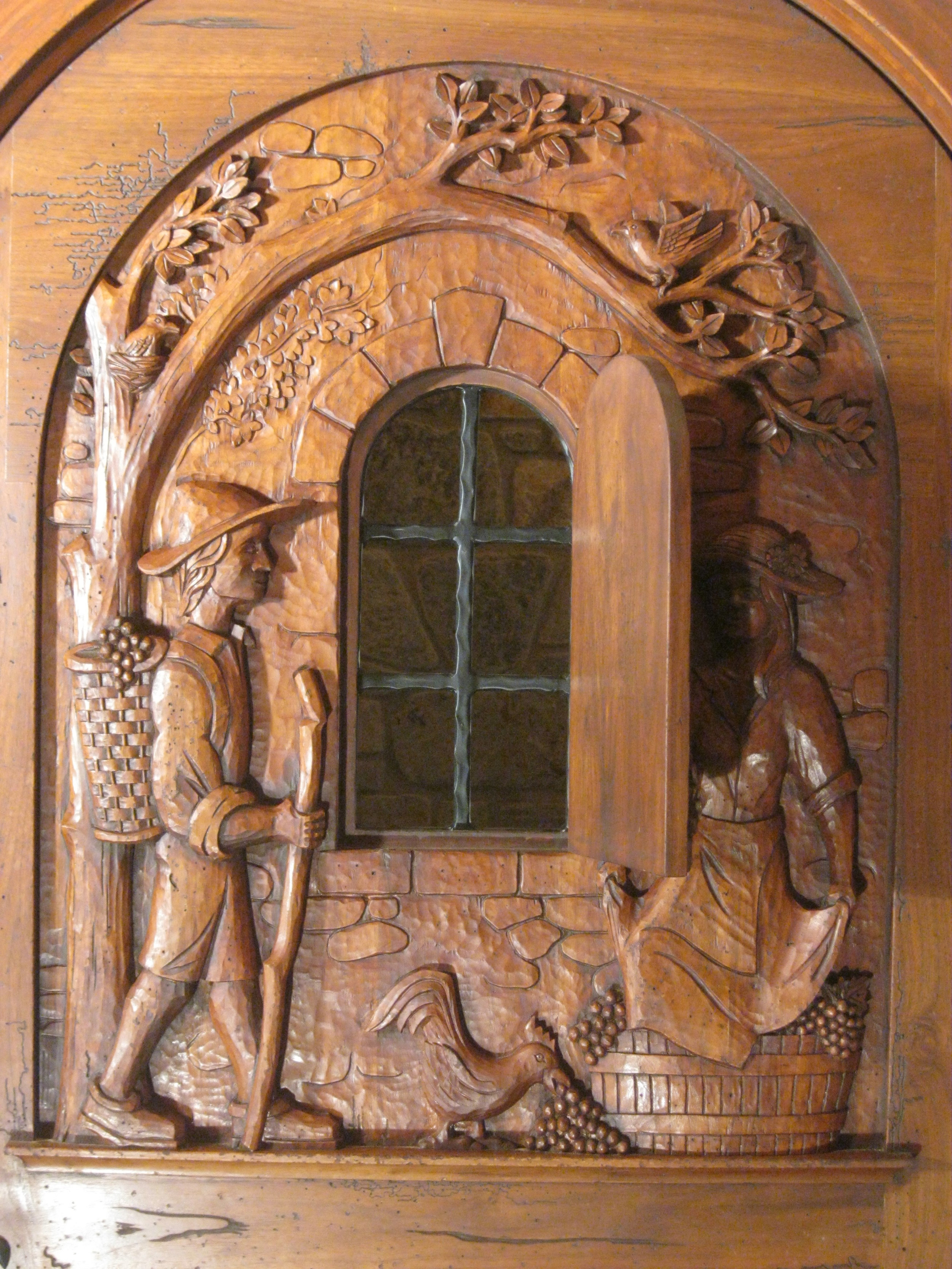Vineyard couple, detail