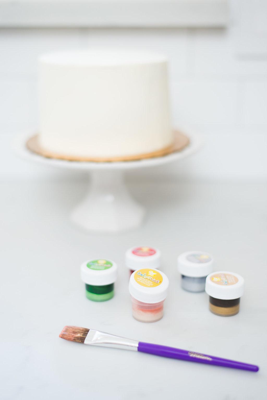 edible cake paint wilton buttercream