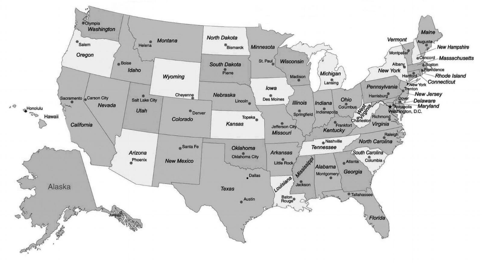 Map USA — Crossing . the . usa