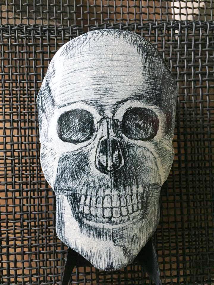 Enamel Skull by Tammi Sloan of My Brown Wren
