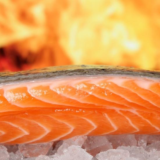 salmon fire bbq