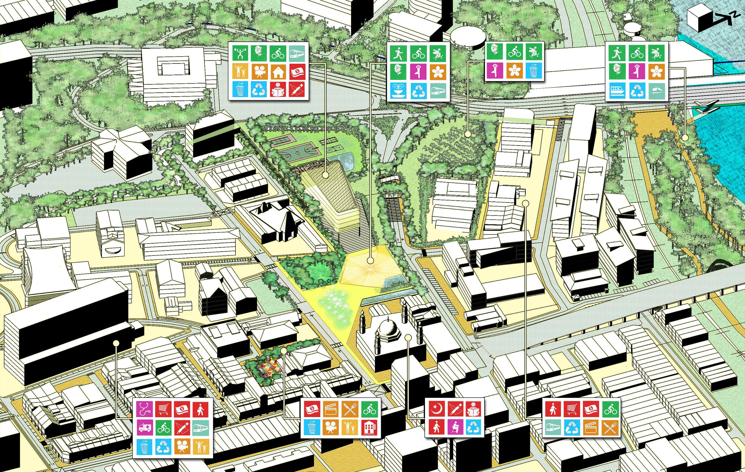 Urban Design Proposal Isometric
