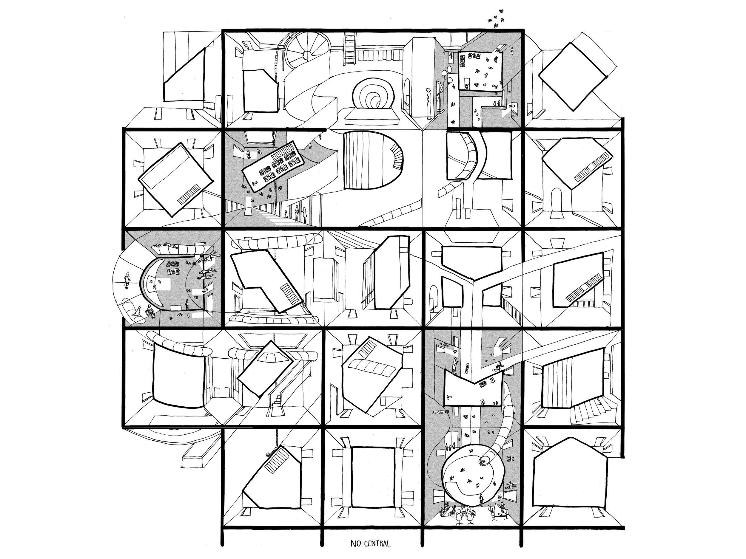 NO-SENTRAL: Re-Strategizing Tschumi's Architectural Disjunction in Coworking Spaces