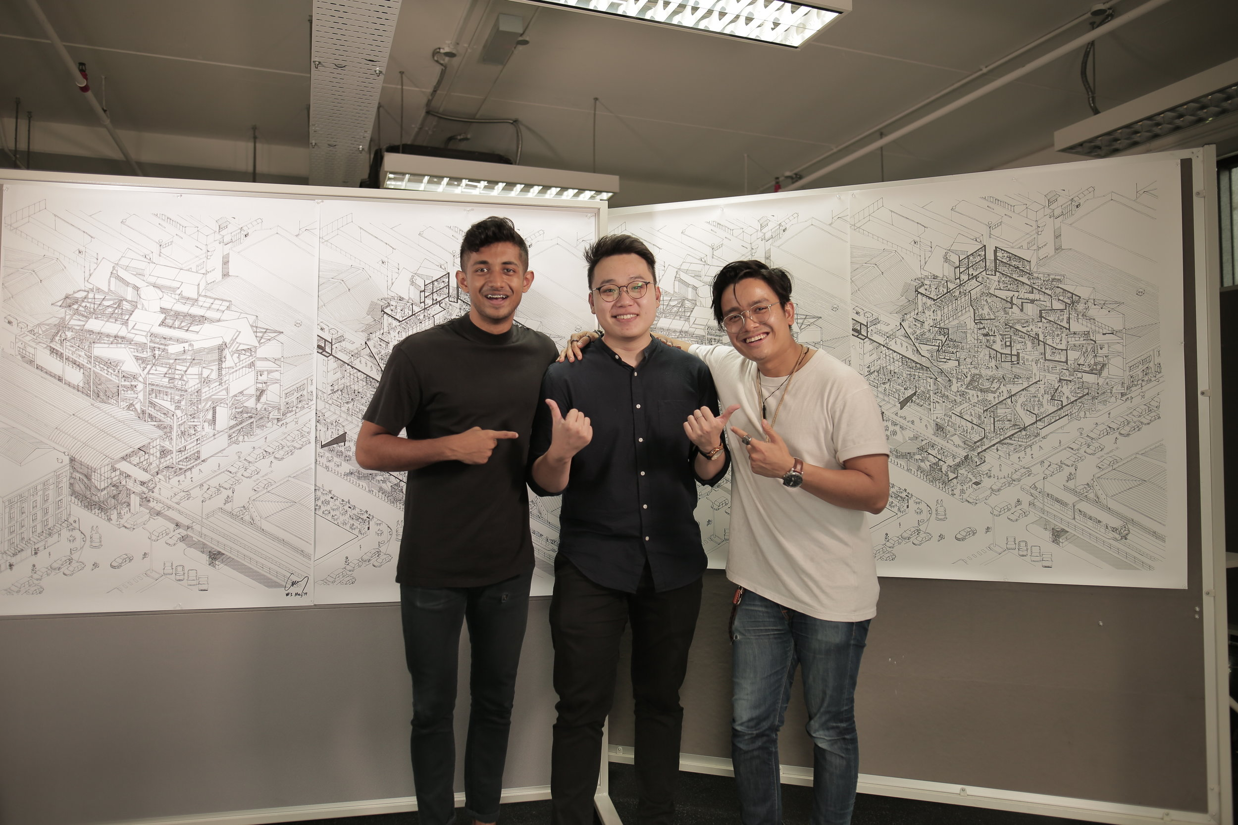 The talented team behind the video!  Left - Darren Arvid of Pathera, Right - Razlan Yusof of Creative Match Photo taken by Razlan Yusof