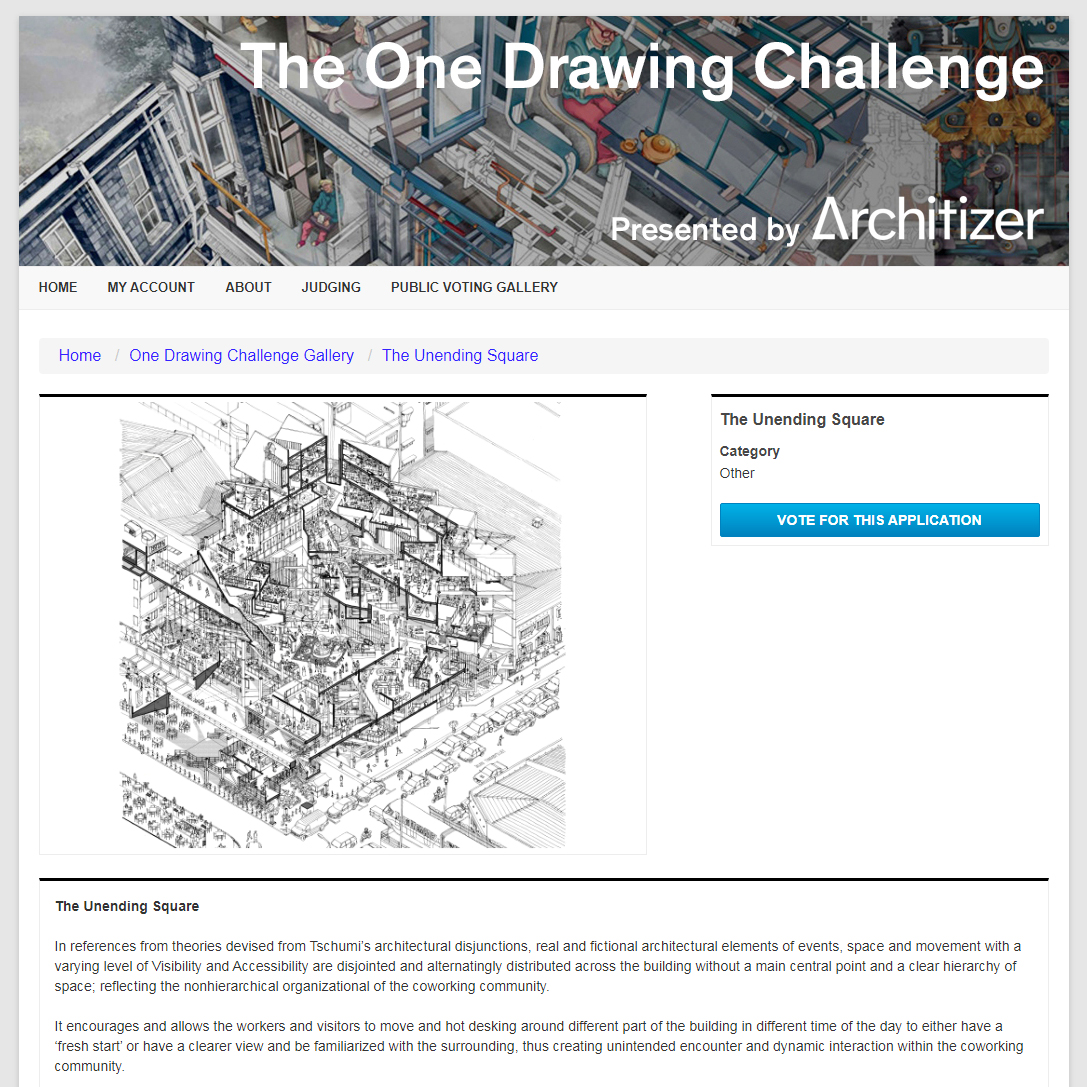 Architizer's One Drawing Challenge