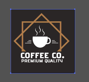 Image Example: I've selected the logo that was placed into Illustrator using a jpeg; there is only a blue line around the borders of the image.  THIS AIN'T VECTOR.