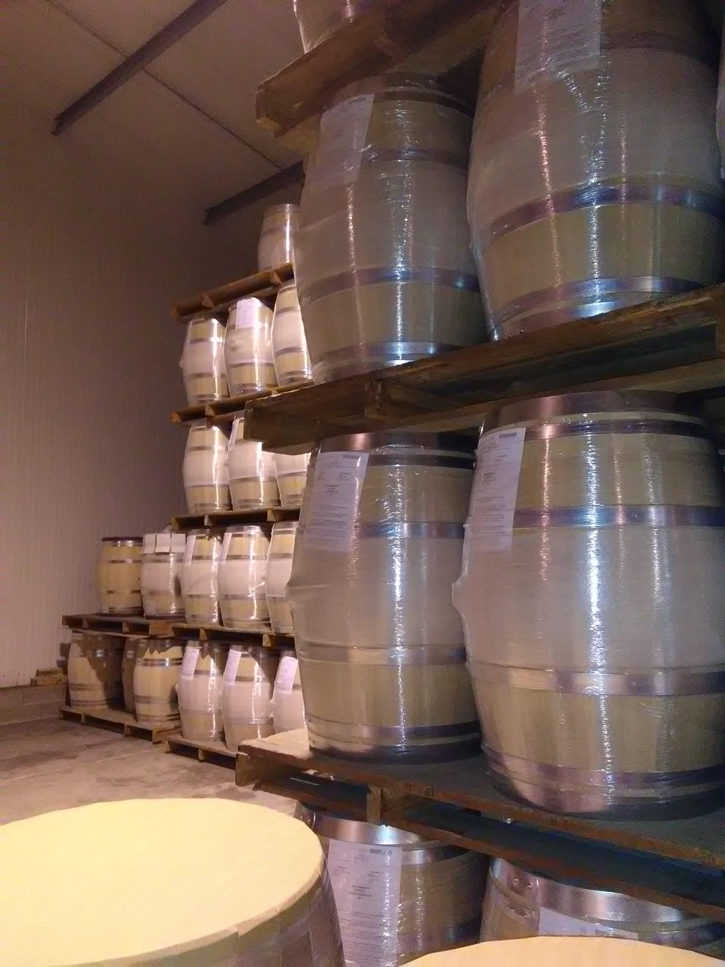 Stock de barriques pour l'exportation...