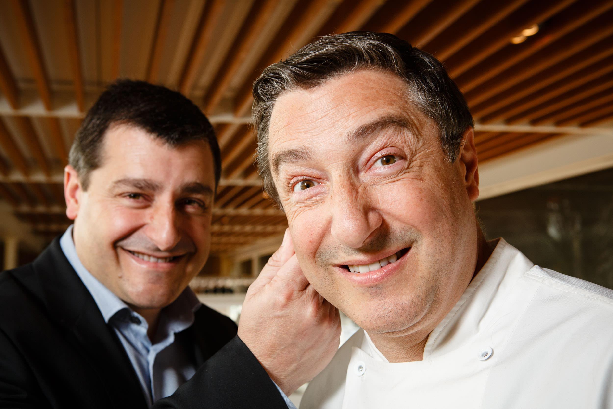 14/3/14 Brothers Josep (left) and Joan (right) Roca, El Cellar de Can Roca restaurant, Girona, Spain. Photo by James Sturcke   www.sturcke.org