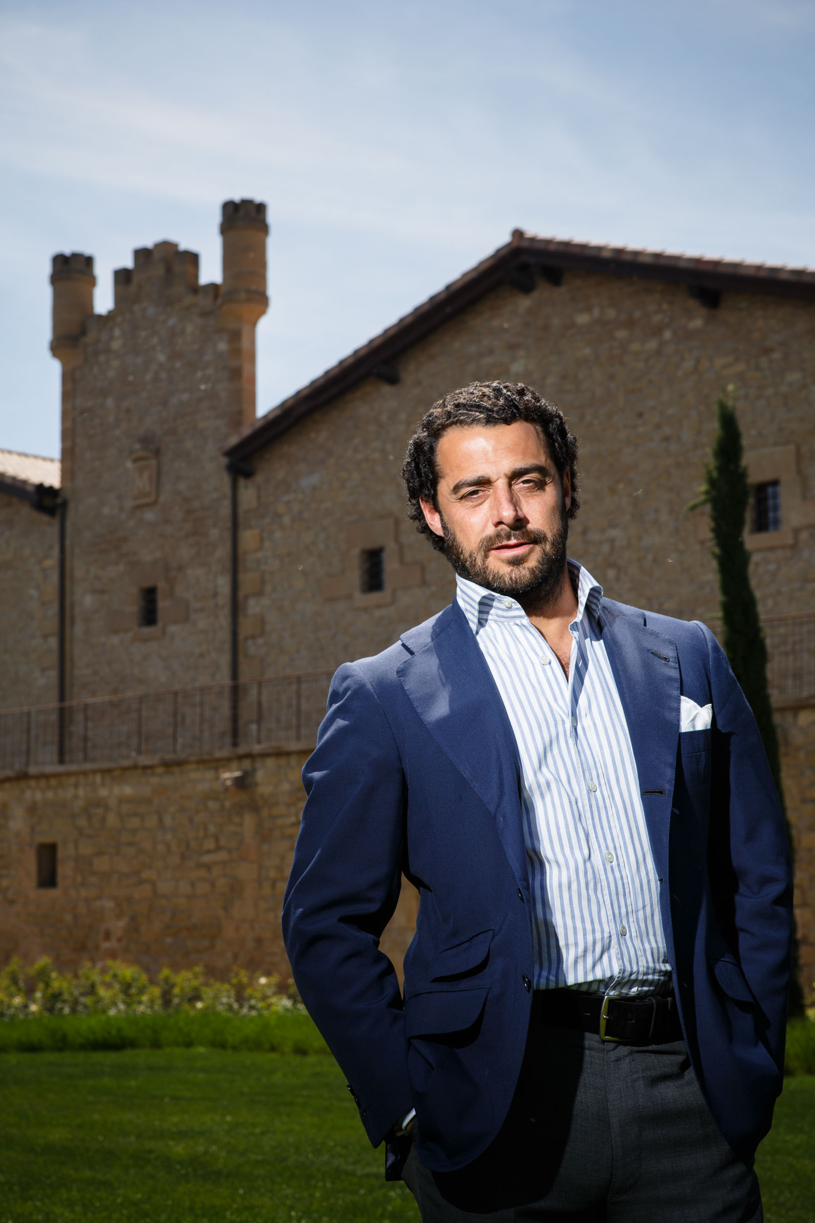 16/5/12 Vicente Dalmau Cebrián-Sagarriga, owner of Marqués de Murrieta Winery, in front of Castillo Ygay building, Finca Ygay, Logroño, La Rioja, Spain. Photos by James Sturcke Fotografía | www.sturcke.org
