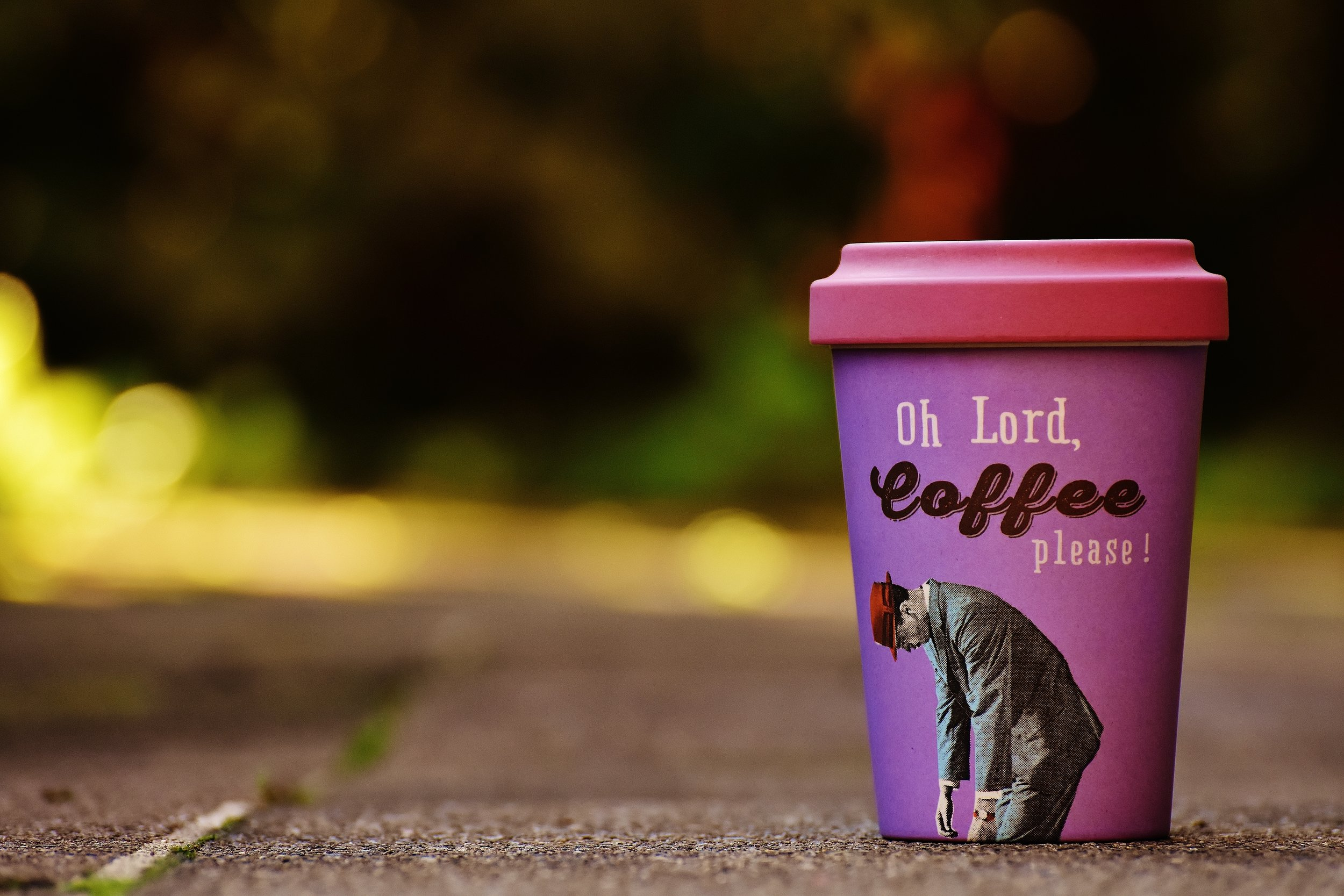 Reusable coffee cup for festivals