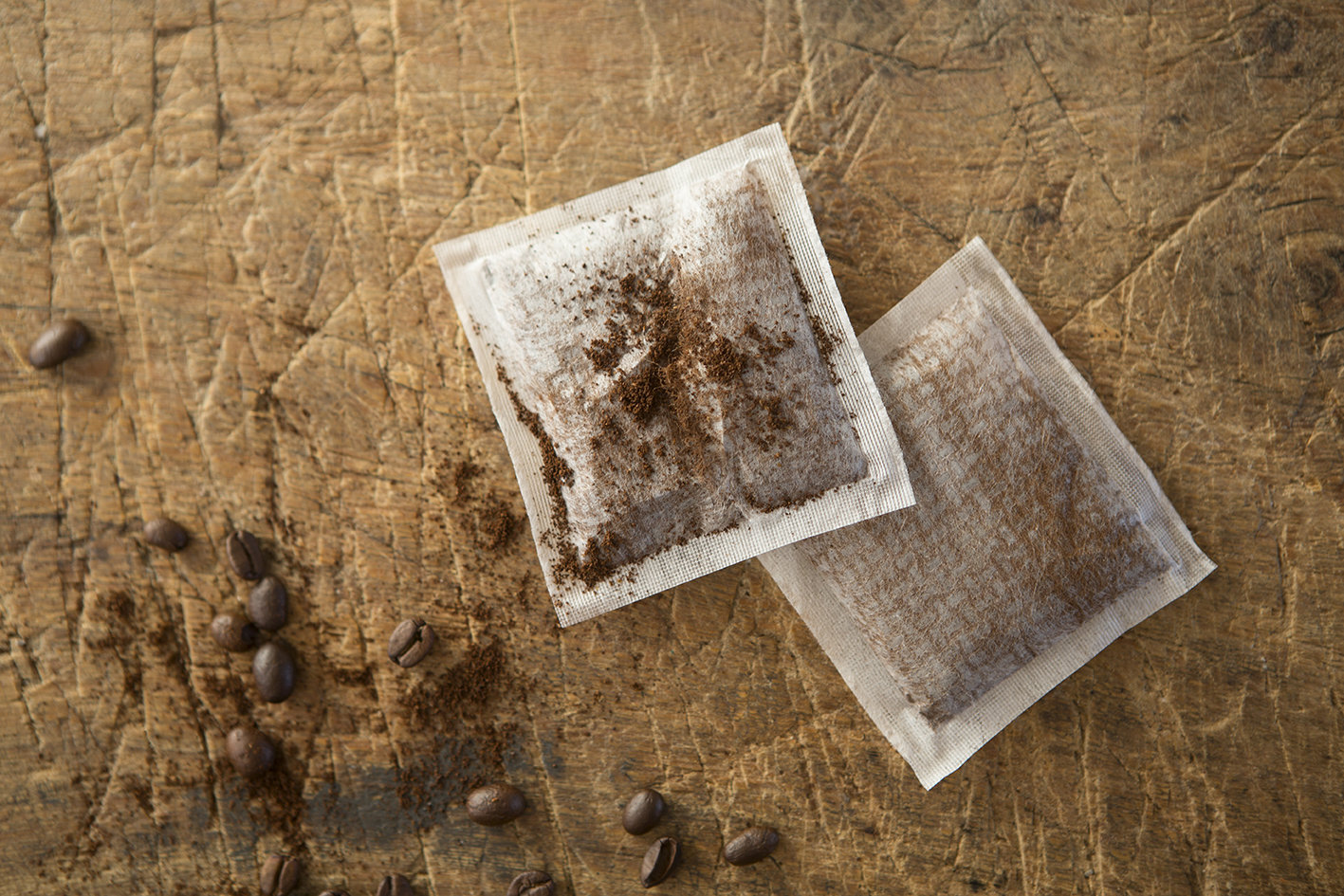 Coffee Bags filled with Fairtrade and Organic Ground Coffee