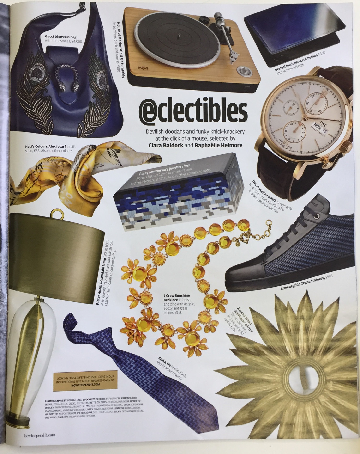 Financial Times How To Spend It Eclectibles Heti's Colours