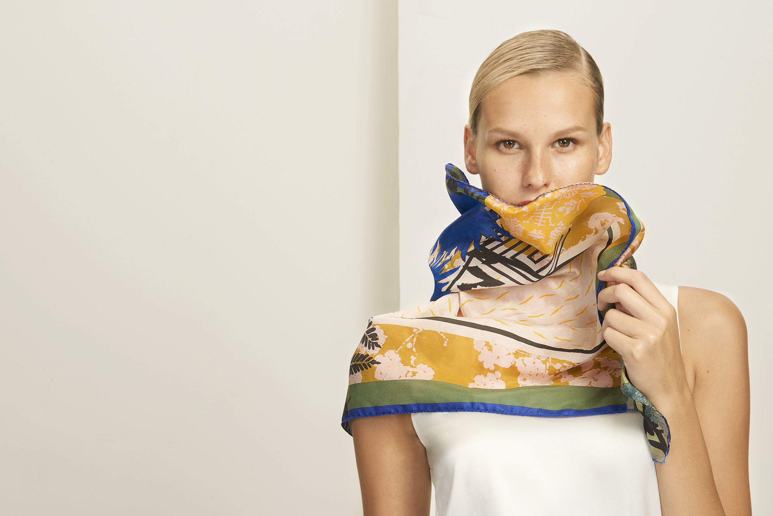 The Fold Heti's Colours Capsule collection scarf luxury design collaboration