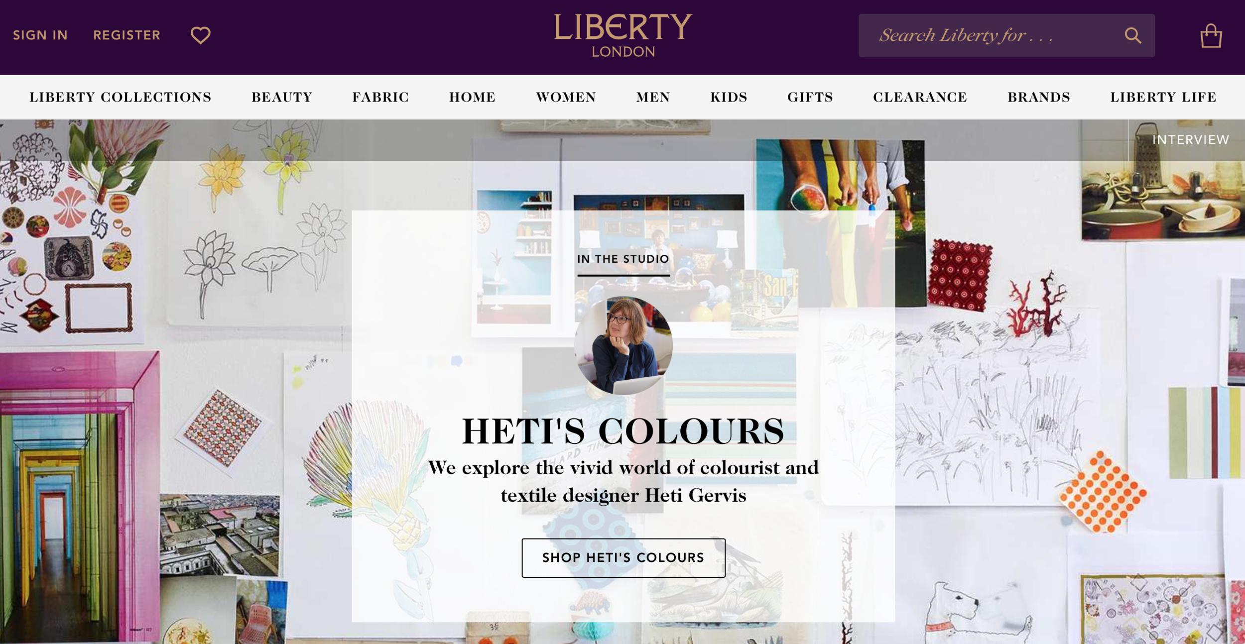 heti's colours liberty london in the studio luxury company