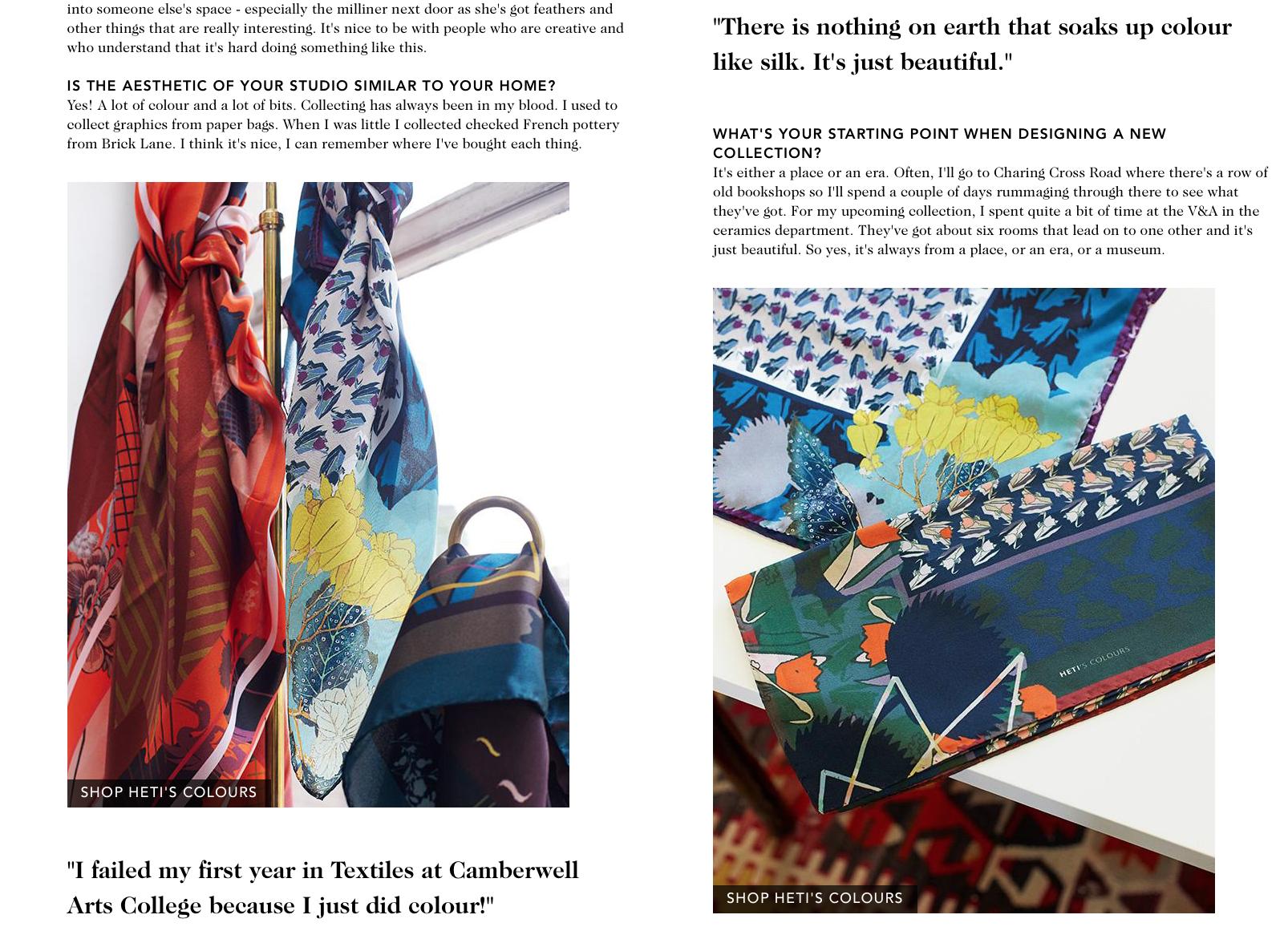 Liberty London Heti's Colours Luxury Scarf Company Designer London