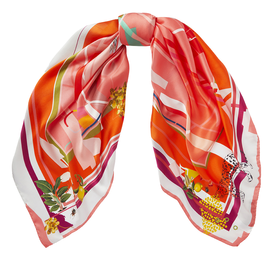 SS19 Heti's Colours Silk Square Scarf Clara
