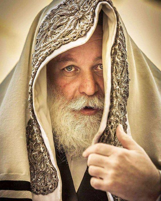 Jewish Rabbi in his adorned tallit, Israel