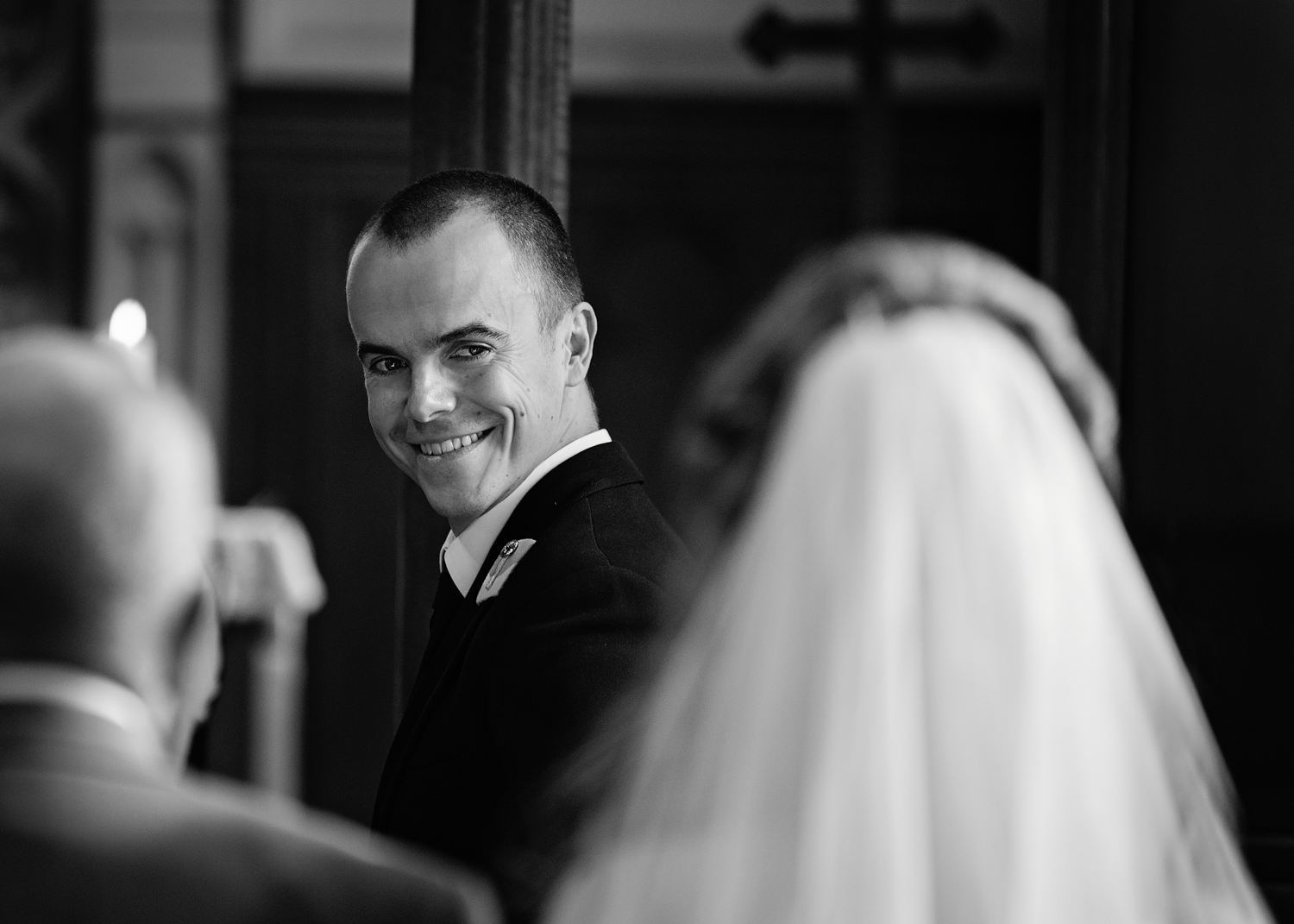 Groom first look | Surrey wedding photographer