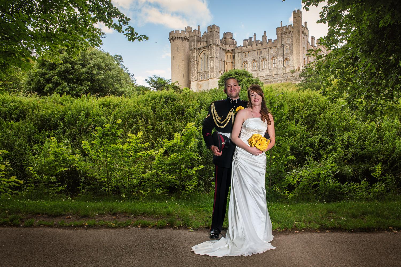 Bride and groom portrait | Arundel Castle | wedding photography