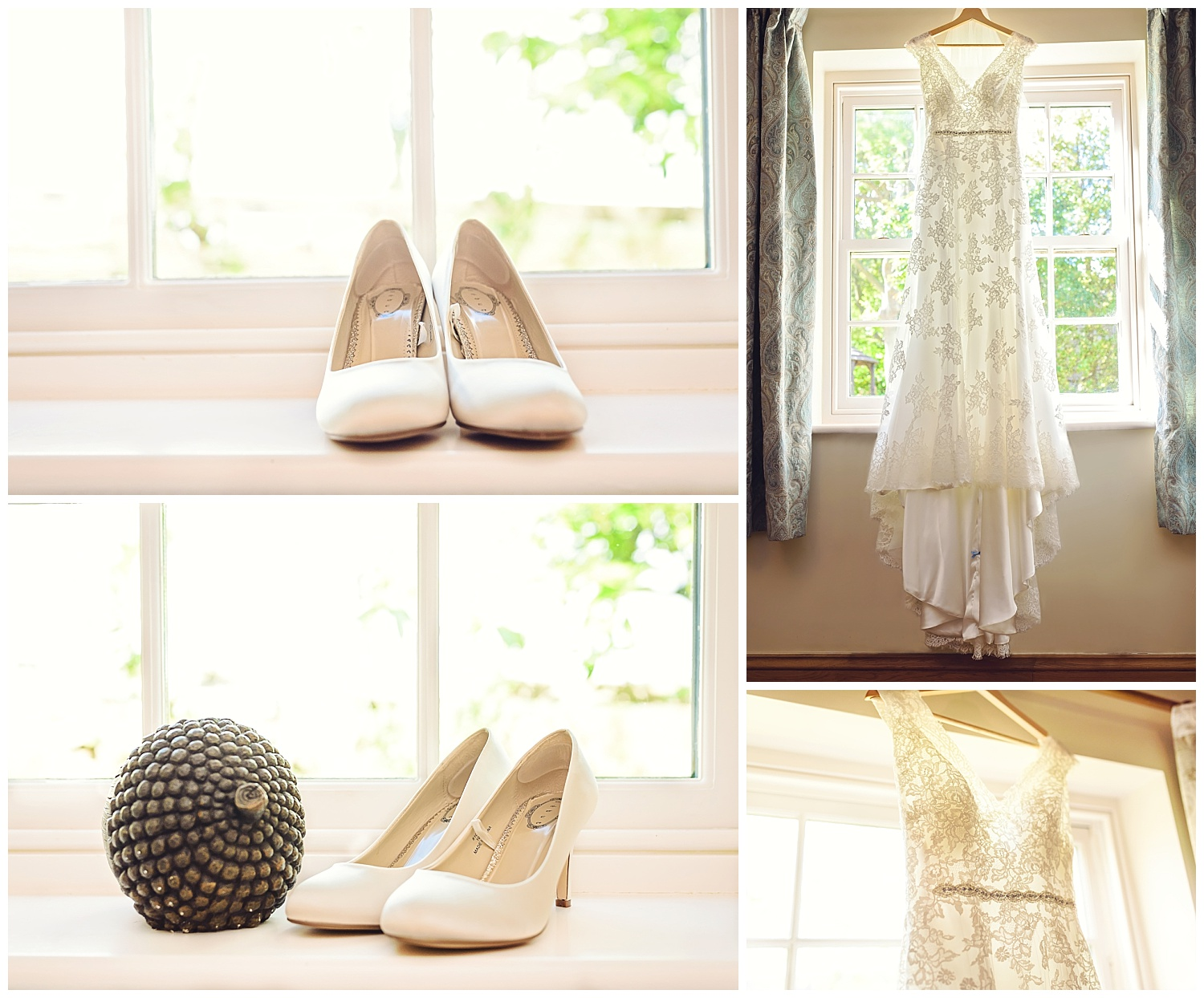 Wedding shoes details | Ox Pasture Hall | Yorkshire Photographer