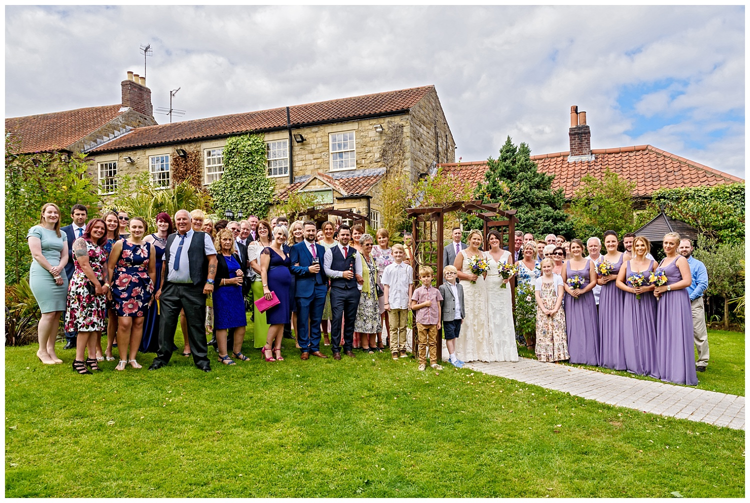 Wedding group shot | Ox Pasture Hall | Yorkshire Photography