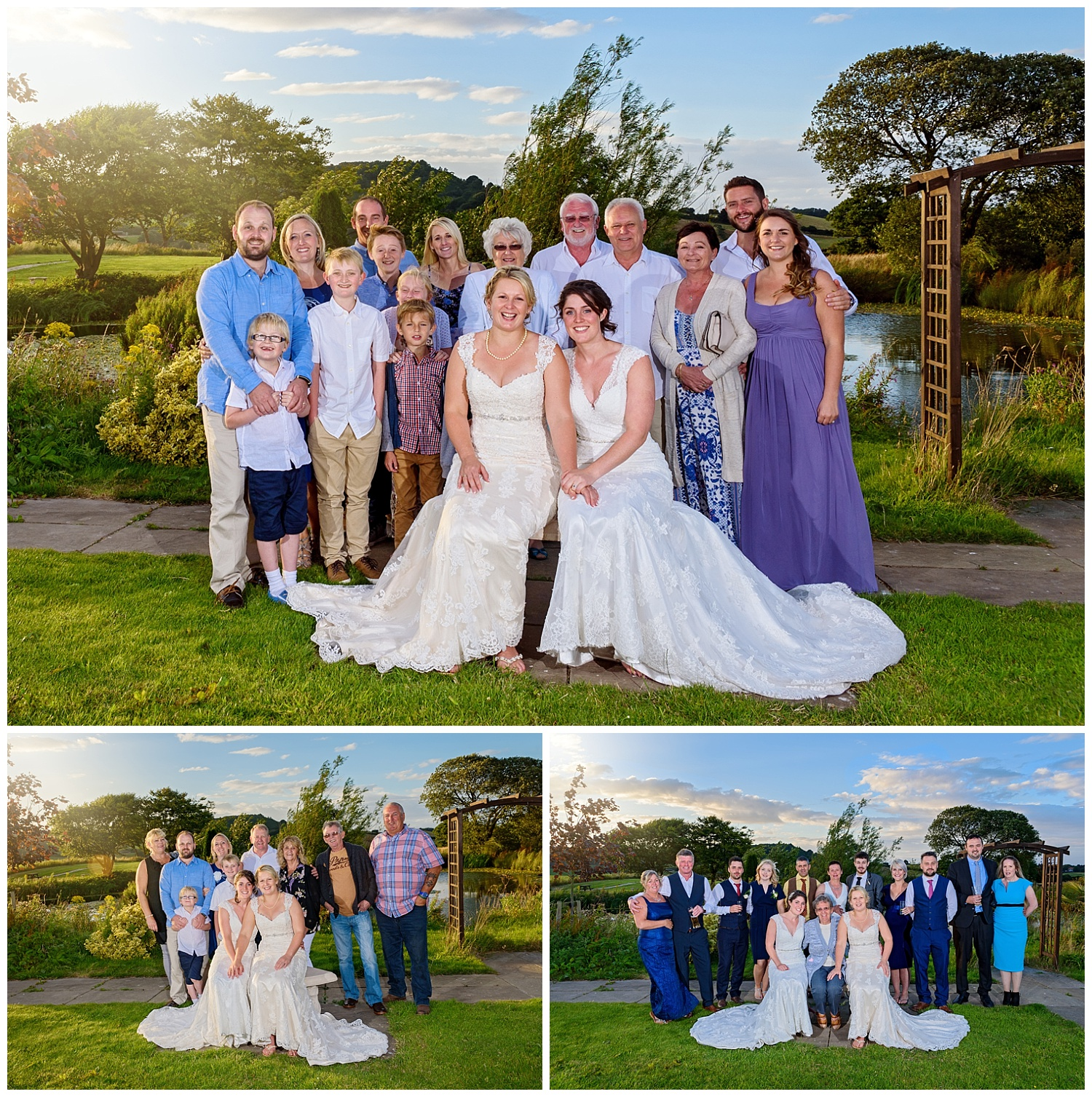 outdoor group shot | ox pasture hall wedding