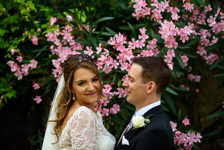 Bride and Groom Portrait | Lambeth Palace beautiful gardens | Surrey and London Wedding Photographer
