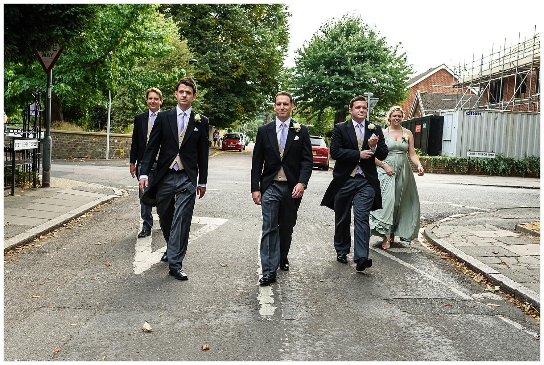 Alex Buckland Photography | Groom and Groomsmen Reservoir Dogs Walk | London Photographer