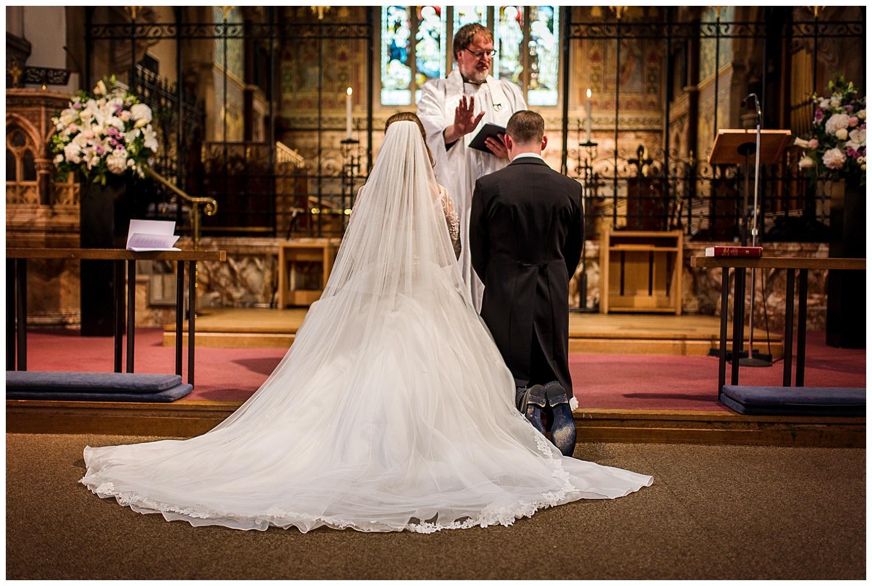 Bride and Groom | Christ Church East Sheen | London Wedding
