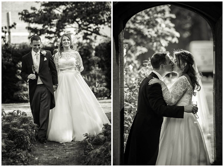 Bride and Groom walking | Lambeth Palace Gardens | Surrey and London Wedding Photographer