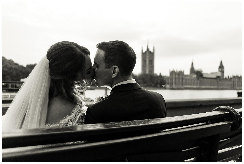 Alex Buckland Photography | Bride and Groom Kiss | Surrey Wedding Photographer