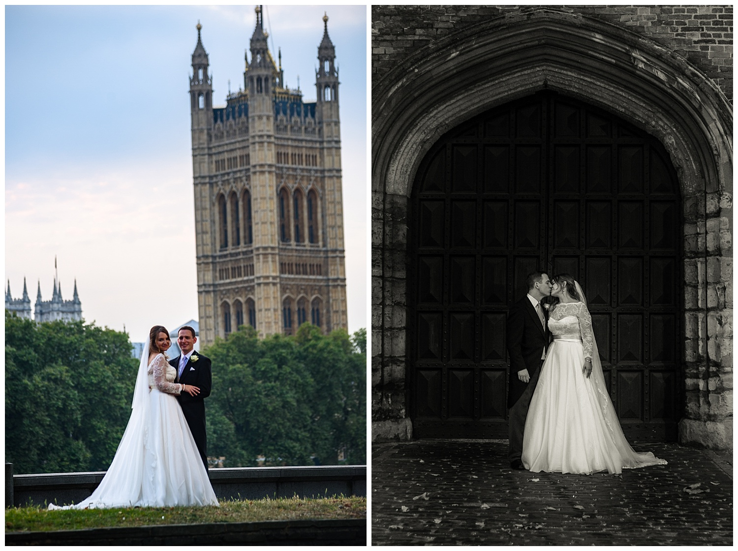 Bride and Groom | Houses of Parliament | Surrey and London Wedding Photographer