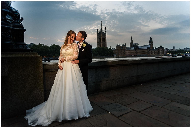 Bride and Groom | Embankment | London Wedding Photographer