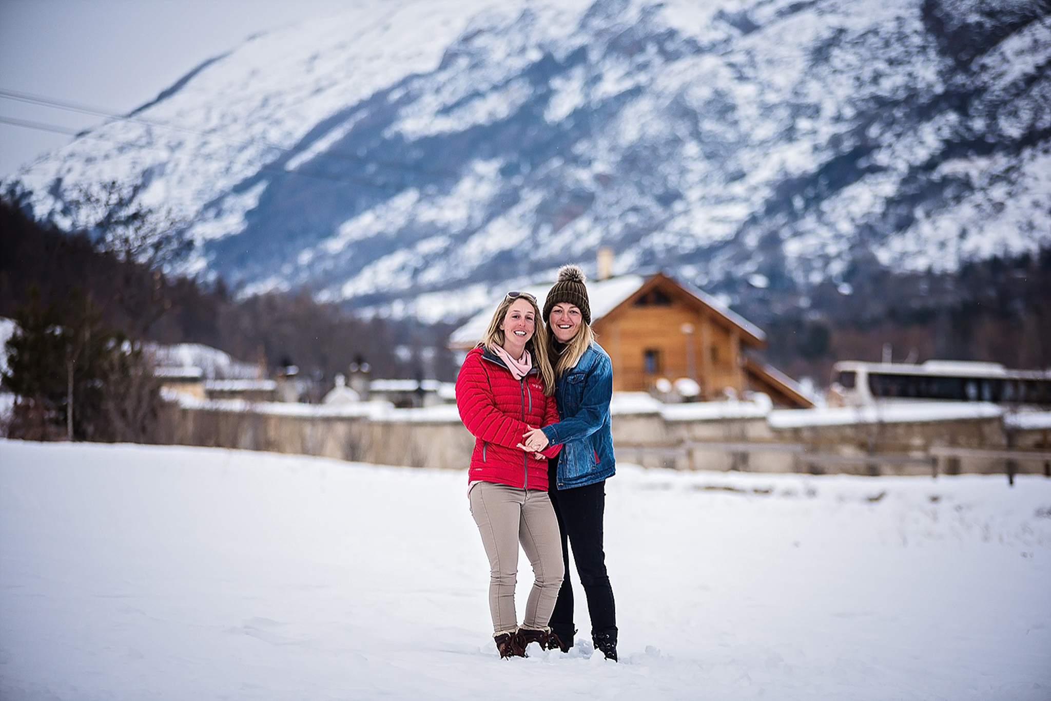 Beautiful same sex couple in the French Alps   Alex Buckland Photography