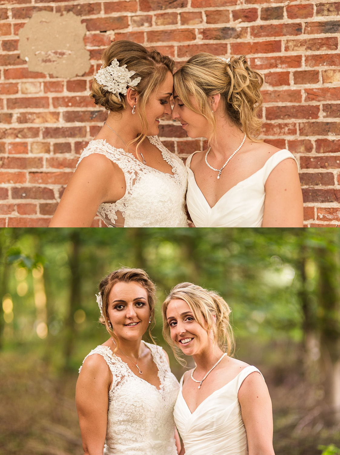 Brides have a walk during LGBT wedding