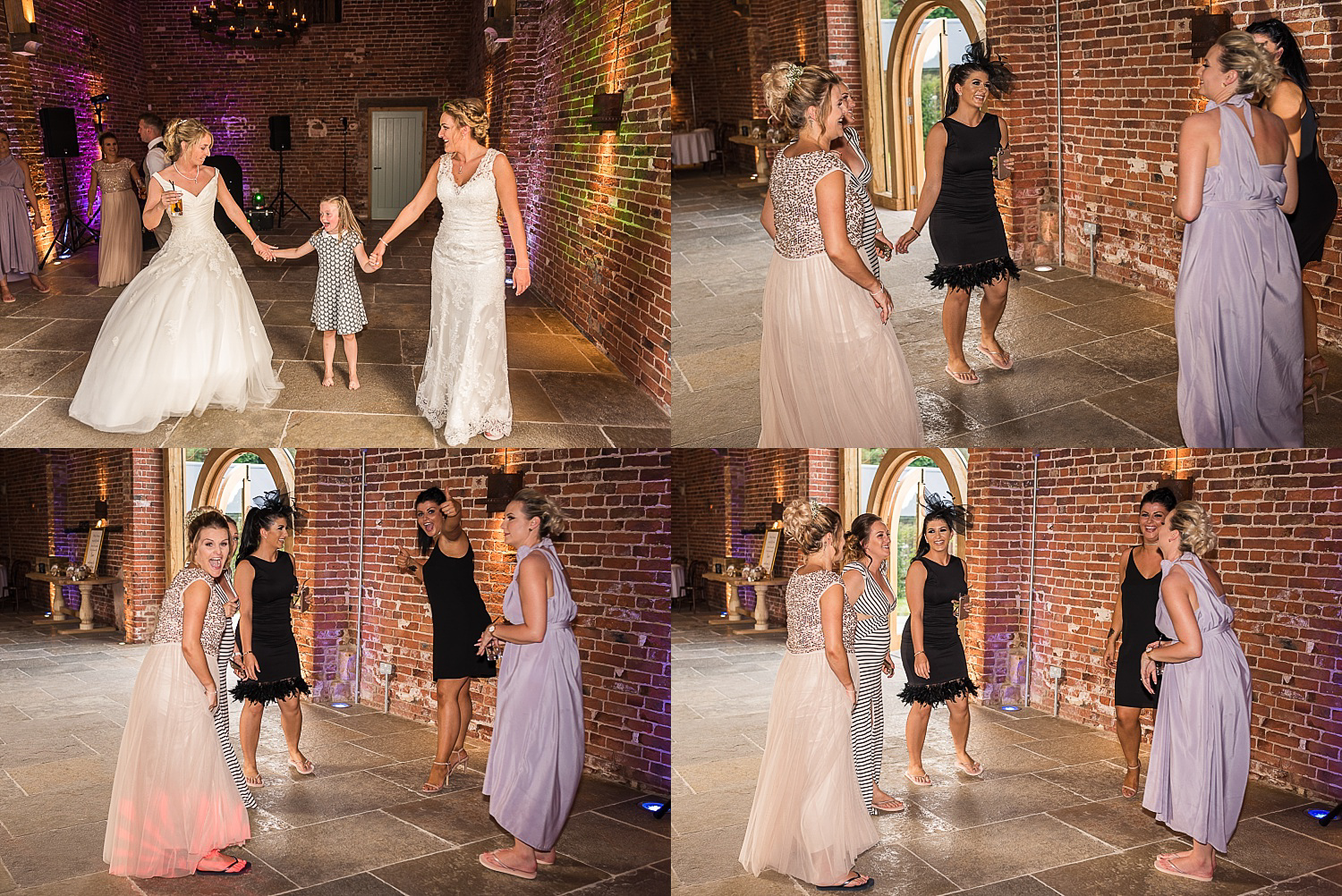 bridesmaids have a dance during Hazel Gap wedding