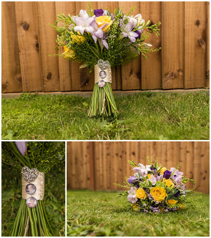 wedding flower details from a Surbiton Wedding