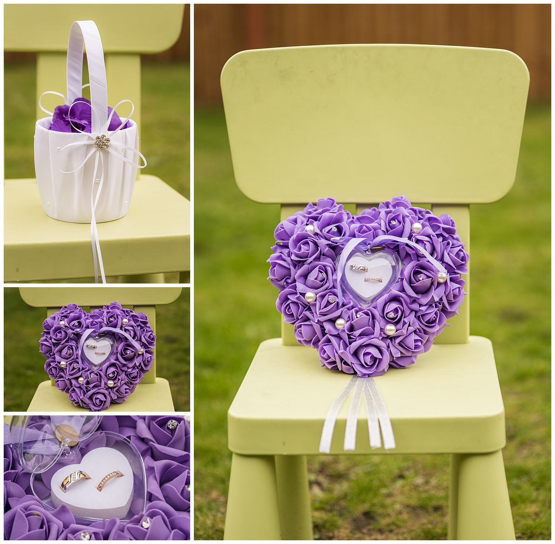 wedding details during bridal prep