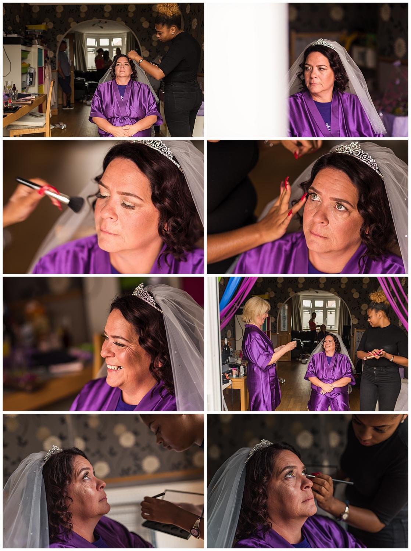 bride make up hair | Kingston wedding