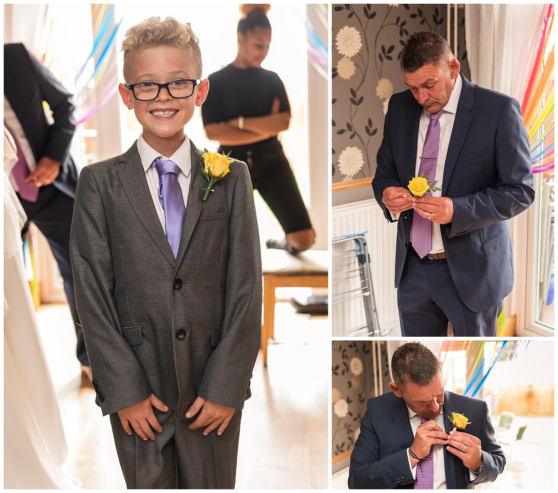 Ushers getting ready during surrey wedding
