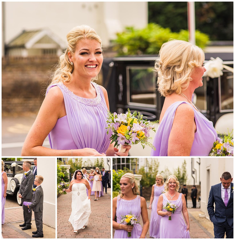 Bride arrives at glenmore house