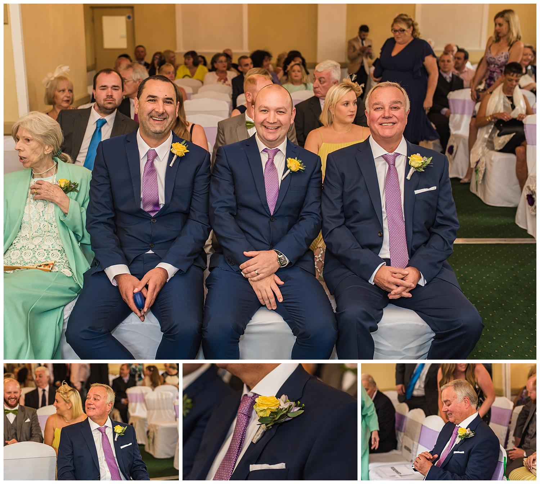 Groom and his groomsmen before wedding ceremony
