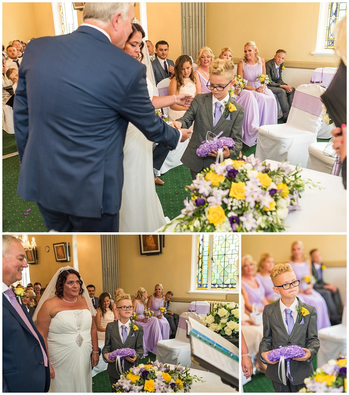Usher handing over the wedding rings