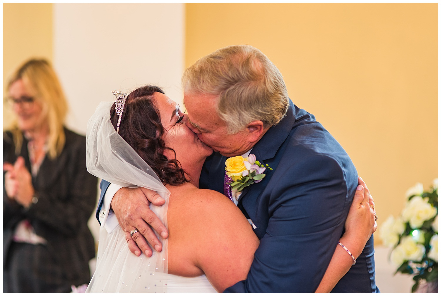 Bride and Groom first kiss | Ceremony | Glenmore House