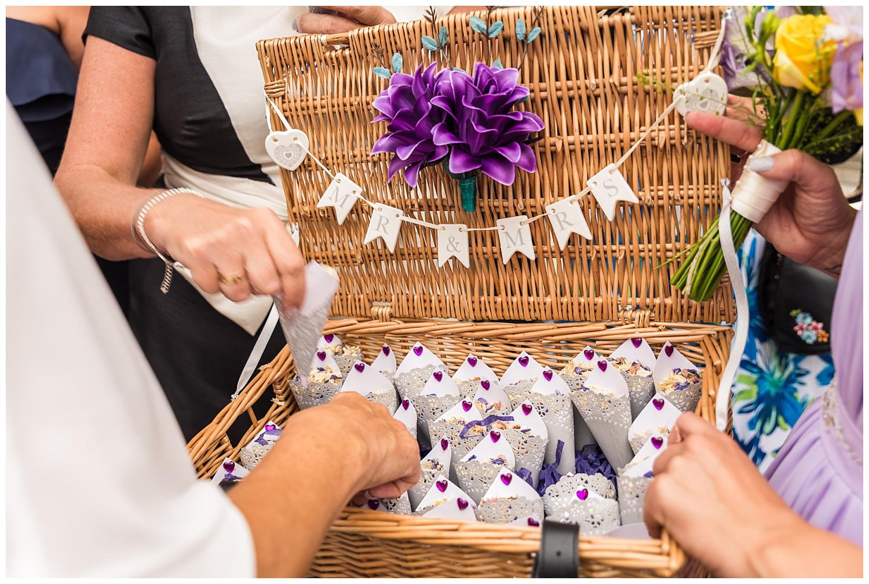 confetti basket | surrey wedding