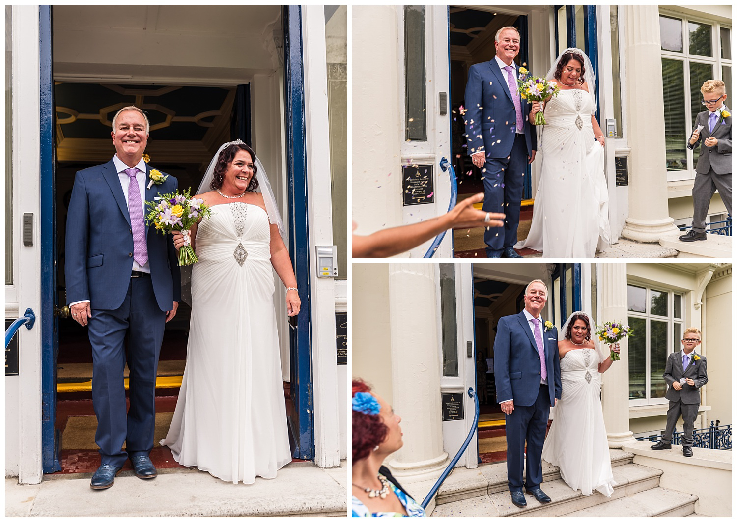 Glenmore House | Wedding | Bride and groom front steps