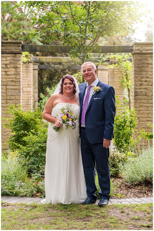 Bride and Groom Portrait | Claremont Gardens | Surrey
