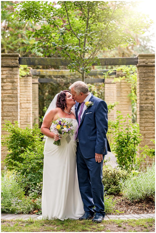 Bride and Groom Portrait | Claremont Gardens | Surbiton